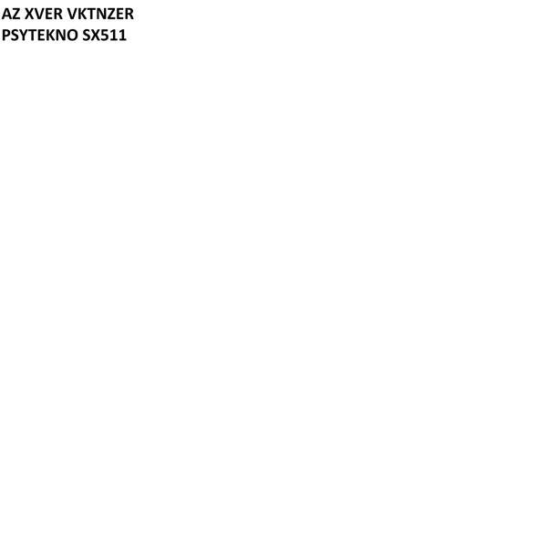 Альбом: PSYTEKNO SX511